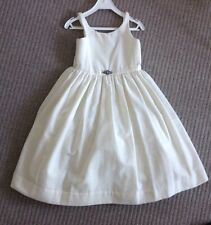 Ralph Lauren Dress Off White Velour Cotton Size 5 for 4-5 Years RRP £450 NEW