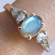 Handmade Labradorite Sterling Silver Fine Rings
