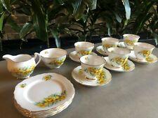 Colclough Bone China Tea Set - Yellow Tulip pattern - 20 piece set