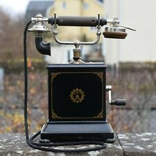 antique telephone Ericsson Sweden Handcranked phone from early 1900's