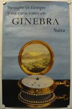 Affiche GINEBRA Suiza - Horlogerie Suisse