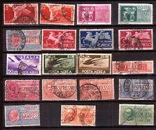 ZY625 ITALIE oblitérés: timbre ESPRESSO et poste aérienne  , faciale en lires