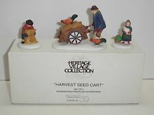 "New - Dept 56 New England Harvest Seed Cart"" Set Of 3 Accessory"