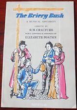 Elizabeth Poston el Briery Bush canción libro (1961) Piano Vocal + Grabadora violín