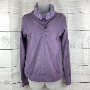 Lululemon women's  In A Cinch Purple Reversible Cowl Neck Sweater Pullover