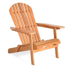 Adirondack Chair Seat Wood Outdoor Patio Lawn Deck Garden Furniture Foldable