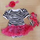 3 pièces nourrisson nouveau-né bébé filles Barboteuse robe tunique tenues tutu