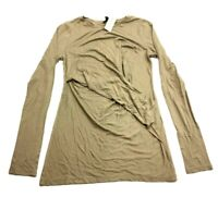 Ann Taylor New Womens Brown Long Sleeve Blouse Top Size Small