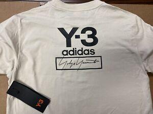 Adidas Y-3 // Youth Stacked Logo Longsleeve Tee [Ecru] #FJ0306 (Small)