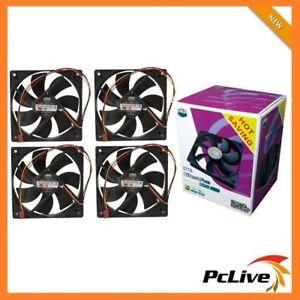 Cooler Master 4x 120mm Silent Case Fan SI2 Value Pack 3-pin 12cm CoolerMaster