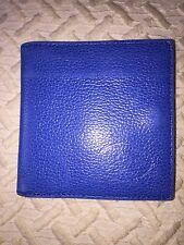 Porte-monnaie, porte-cartes, porte-billets en cuir bleu SELLERIE FRANÇAISE PARIS