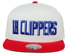 Los Angeles Clippers Mitchell & Ness STA XL White Red Blue Snapback Hat Cap NBA