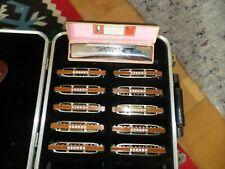 BLUESHARP von Hohner Koffer m.10Harps und 1 Lederetui plus 1 Hohner