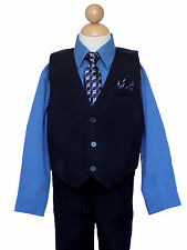 Boys Recital, Holiday, Party, Wedding, Pinstripe Vest Suit Set,Size: 2T to 14