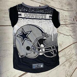 Dallas Cowboys Licensed NFL Dog Pet Performance Tee Sizes XL