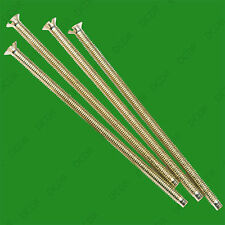 10x M3.5 Brass Plated 75mm Long Fine Electrical Thread Slotted Head Screws