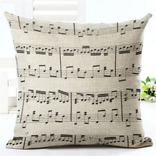 "UK MUSICAL NOTES CUSHION COVER 17"" x 17"" Music Gift Idea Home Decor Pillow Case"