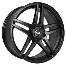 16x7 Enkei RSF5 5x100 +38 Black Wheels (Set of 4)