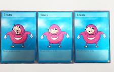 3 Full Art Yugioh Custom Made Token Cards: Ugandan Knuckles meme
