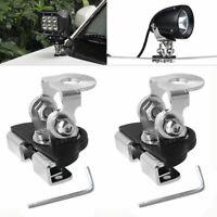 2* Car Pillar Hood LED Work Light Bar Mount Bracket Clamp Holder Off-road 4*4