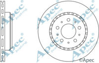 FRONT BRAKE DISCS (PAIR) FOR VOLVO 760 GENUINE APEC DSK917