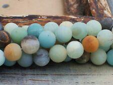 NELLYS AMAZONIT mehrfarbig Perlen Edelsteine Strang matt 1 KOMPLETTER Strang