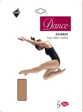 Onorevoli DANCE Shimmer Completo Piede Collant In Luce Toast