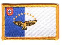 Toppe Toppa PATCH AZZORRE 7x4,5cm Bandiera  banderina ricamata termoadesivo