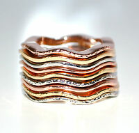 ANELLO donna SET ANELLI Argento Oro elegante da cerimonia ring кольцо anillo 30