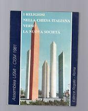 i religiosi nella chiesa italiana verso la nuova societa' - 1981