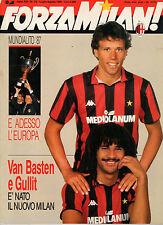 FORZA MILAN!=N°7/8 1987=MUNDIALITO 87=VAN BASTEN E GULLIT=SACCHI=FOGAR