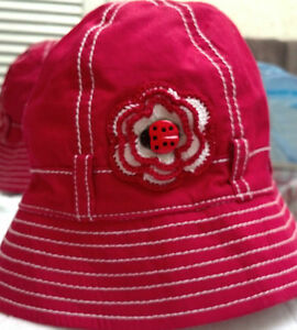 NEW RED LADYBUG GYMBOREE HAT 12 18 24 2T 3T MONTHS GIRLS INFANT TODDLER BABY