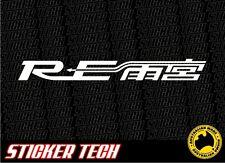 RE AMEMIYA ROTARY VINYL STICKER DECAL TO SUIT MAZDA RX7 RX3 RX8 13B TURBO
