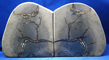 Mexican Septerian Nodule Bookends Cut and Polished 13 pounds 8 ounces Gray