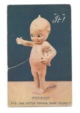 NUDEKIN KEWPIE DOLL Raphael Tuck Oilette 1916 Postcard