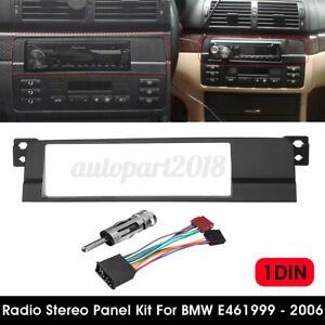 Façade 1 DIN Carde Autoradio Câble Adaptateur Faisceau pour BMW E46 1999-2006