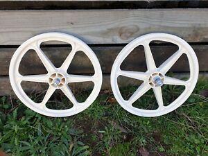 """SKKWAY 80's OE white 20"""" wheel set - old school bmx"""