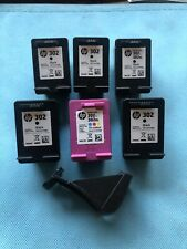 GENUINE HP 302 EMPTY ink cartridges 5 Black & 1 Colour + 1 Cover