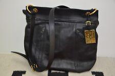 Ralph Lauren Black Leather Crossbody Shoulder Messenger Bag