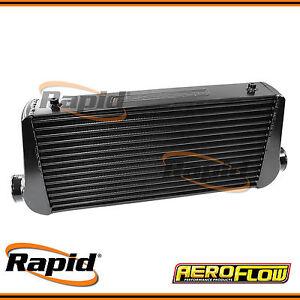 "Black Aluminium Intercooler with 3"" Inlet/Outlets Aeroflow AF90-1000BLK"