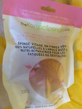 Sealed The Konjac Sponge Co natural konjac sponge in light pink RRP £8.99