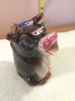 Vintage Mini Ceramic Cow Bull Creamer Made In Japan