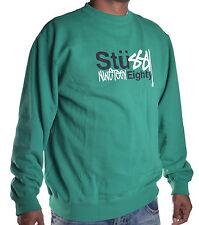 Stussy Men's Nineteen Eighty Pull Over Sweatshirt Size XL
