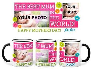 Mothers Day Photo Mug Made With your photo(s) - personalised gift