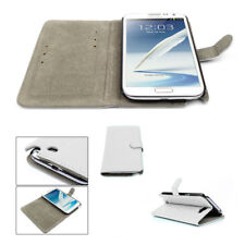 NEW WALLET CASE COVER STAND MAGNETIC PU LEATHER WHITE SAMSUNG GALAXY NOTE II 2