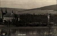 Schloss Corvey bei Höxster Echtfoto-AK ~1930 Blick über den Fluß auf das Schloß