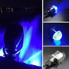 Blue Bright 9-LED Dossy  Boat Blue Underwater Light & Drain Plug 12V Excellent