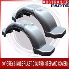 """2 X  10"""" GREY SINGLE PLASTIC GUARD WITH STEPS AND COVER"""