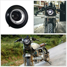 Universal 600LM 6500K Metal White Angel Eye Motorcycle LED Headlight Hi/Low Beam