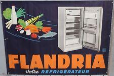AFFICHE ANCIENNE  FLANDRIA VOTRE REFRIGERATEUR circa 1960
